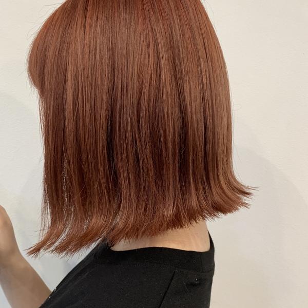 夏のオレンジヘアカラー